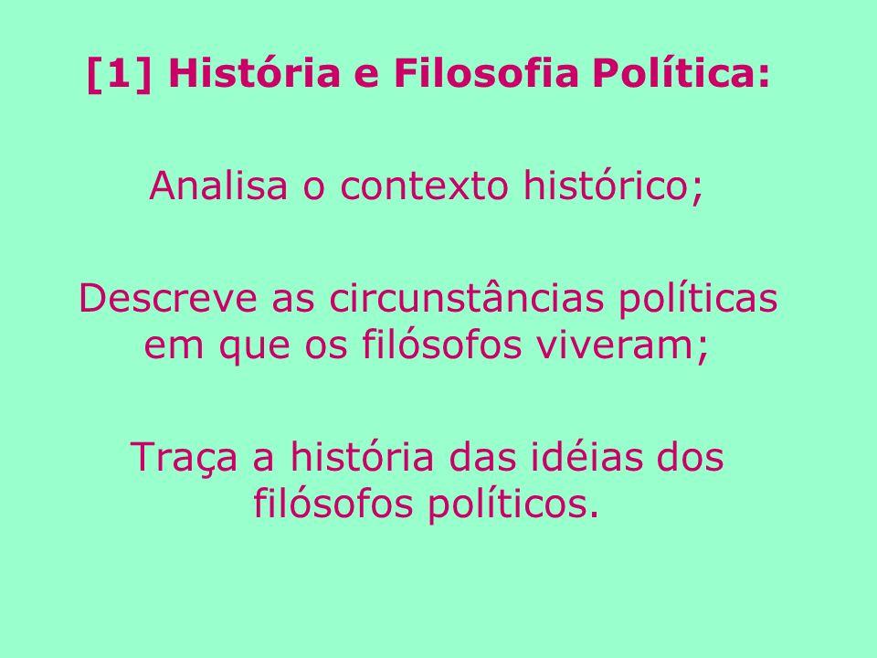 [1] História e Filosofia Política: